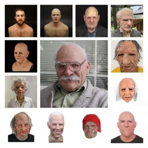 13 Types Old Man Scary Mask Cosplay Full Head Latex Mask Halloween Horror Funny Cosplay Party Mask Old Man Helmet Real Mask #916