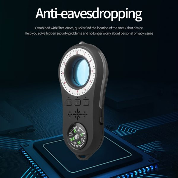 VODOOL Rechargeable Wireless Camera Signal Scanner Multi-Function Anti-Spy Invisible Lens Infrared Detector Finder Tracer
