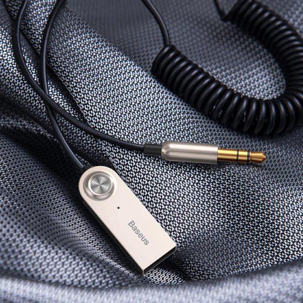 Baseus BA01 Wireless Bluetooth Receiver 3.5mm Jack Aux Bluetooth 5.0 Adapter USB Audio Music Bluetooth Transmitter for Car